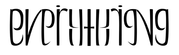 Everything ambigram