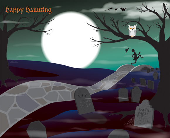 Sleepy Hollow Greeting Card background art