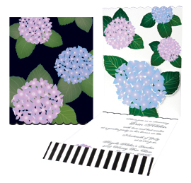 Hydrangea imprintable stationery