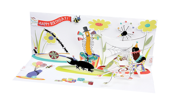 Insect Birthday pop-up greeting card