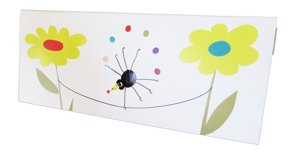 Insect Birthday greeting card cover