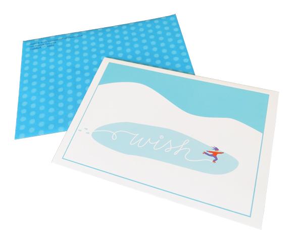Make-A-Wish CT holiday card
