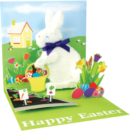 Rabbits Delivery greeting card