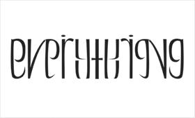 Everything mirrored ambigram