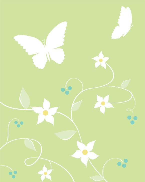 Graphic Butterflies imprintable art