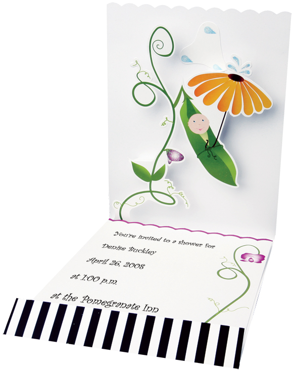 Pea in the Pod imprintable stationery
