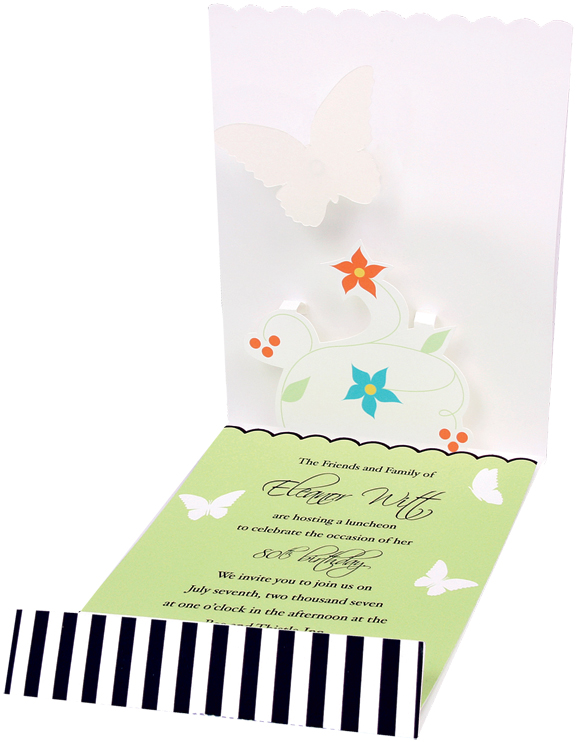 Graphic Butterflies imprintable stationery