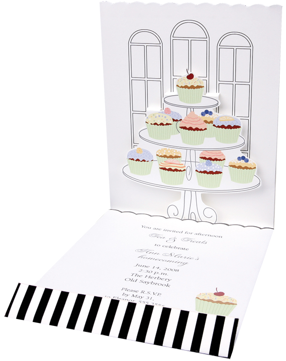 Cupcakes imprintable stationery