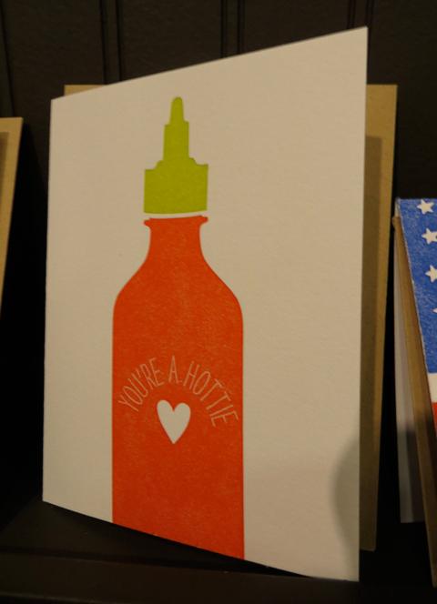 Printerette Press hot sauce card