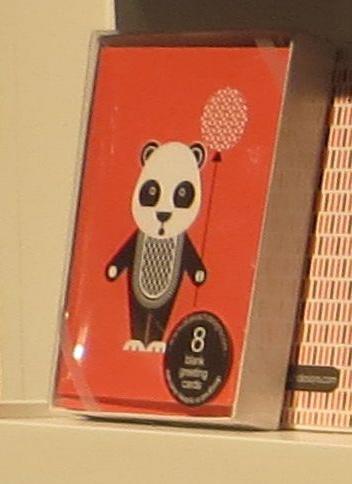 Ella Leach Designs panda bear boxed notes