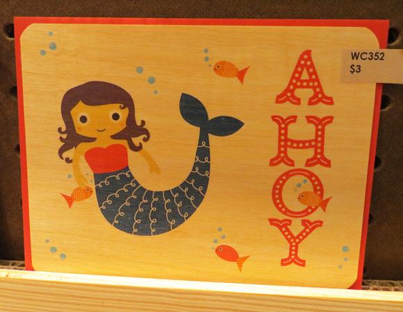 Night Owl Paper Goods' mermaid card