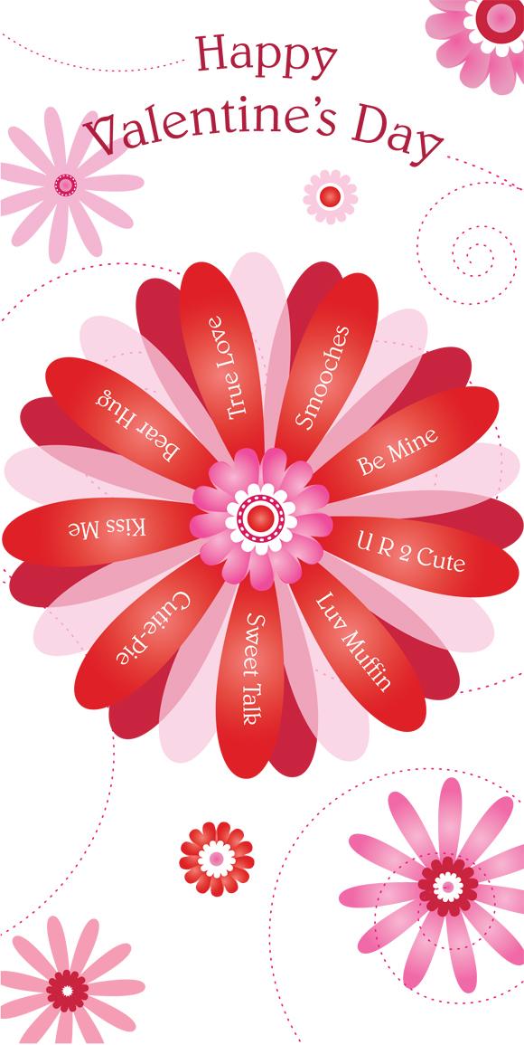 Valentine Flower greeting card art