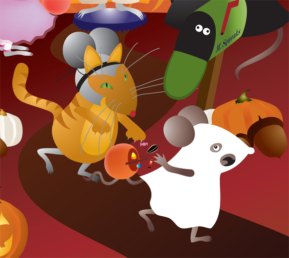 Pumpkin Mice detail
