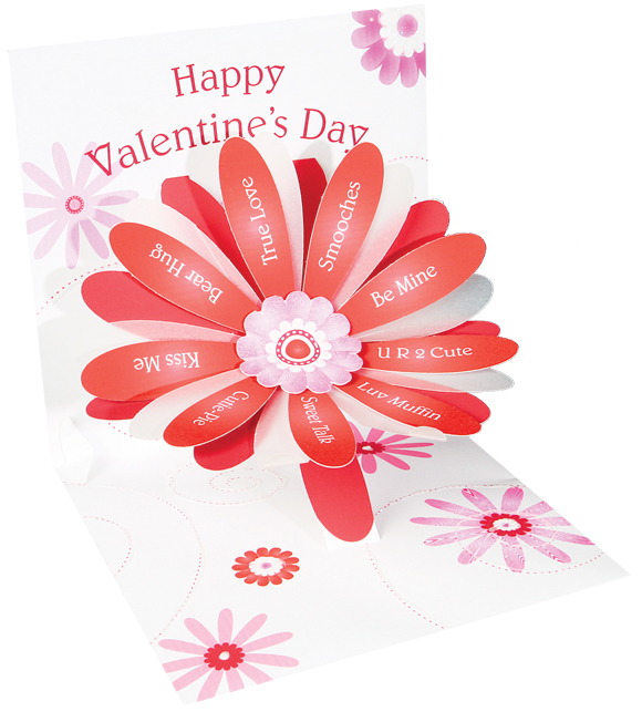 Valentine Flower greeting card prototype