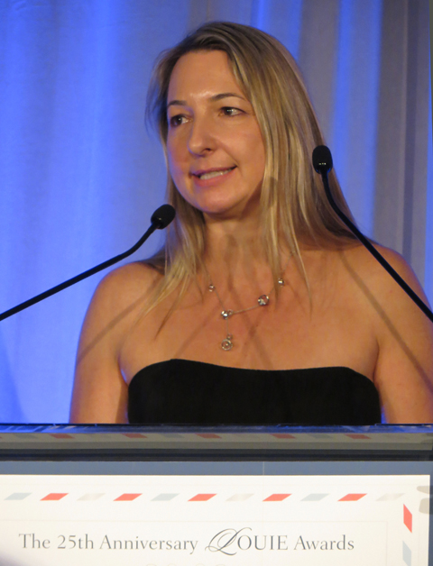 Monika Brandrup-Thomas of Up With Paper, LLC and 25th Anniversary LOUIE Awards Chair