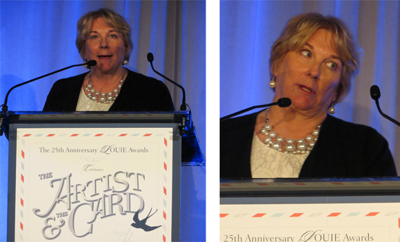Mary Engelbreit accepting the Lifetime Achievement Award