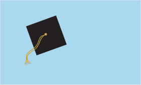 Grad Cap Toss greeting card