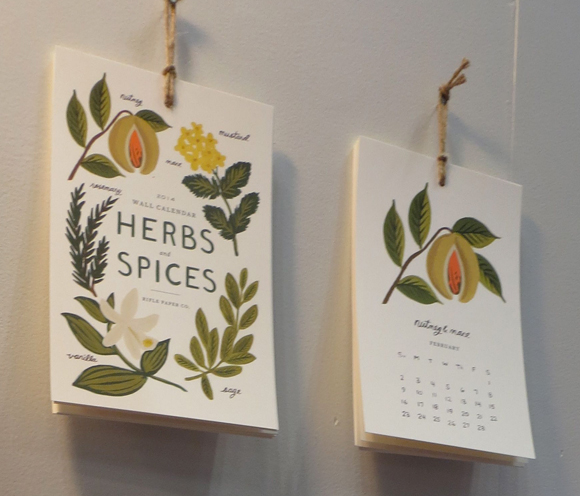 Rifle Paper Co. Herbs and Spices calendar