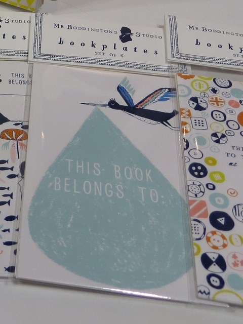 Mr. Boddington's Studio's stork bookplate