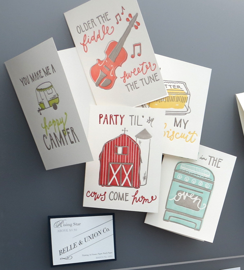Belle & Union Co. hand-lettered card designs
