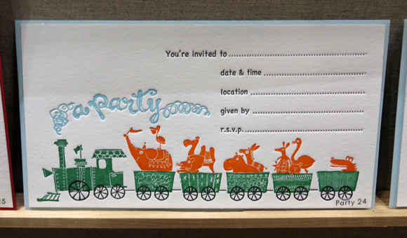 Ilee Papergoods children's party invitation