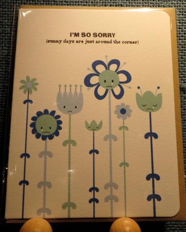 Maginating sad flowers card