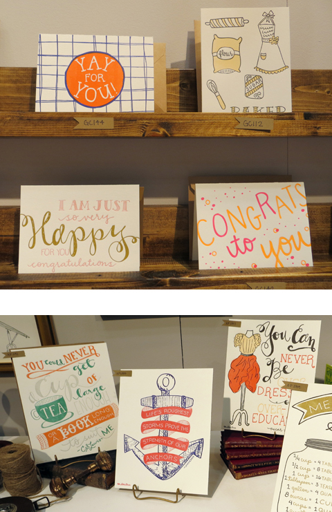 9th Letter Press hand-lettered card designs