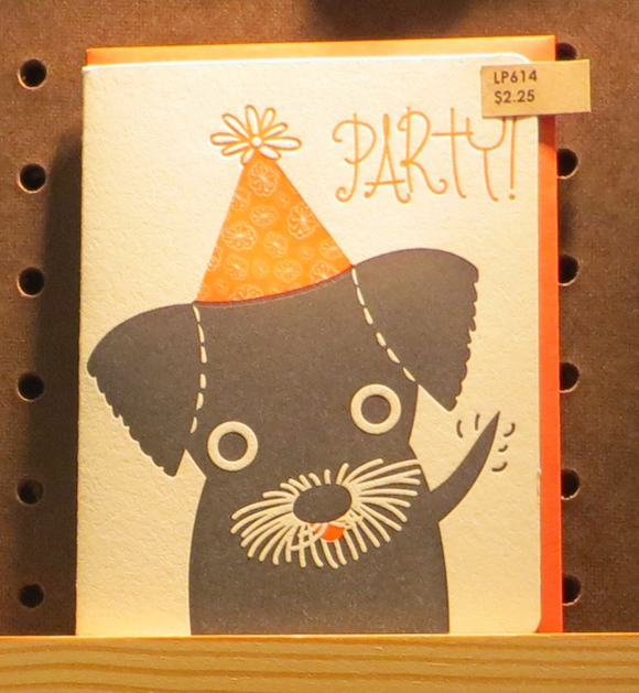 Night Owl Paper Goods party puppy card