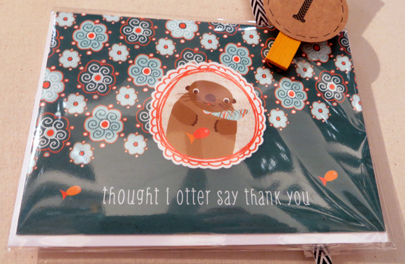 Night Owl Paper Goods otter card
