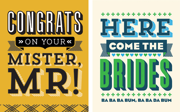 L2 Design Collective grooms and brides cards