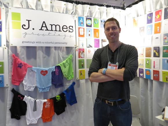 Rich Sherman in the J. Ames Greetings booth