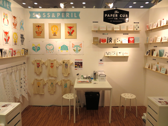Sass & Peril and The Paper Cub Co. booth