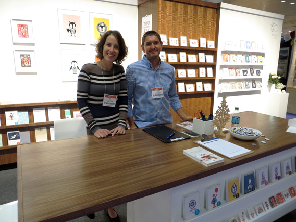 Ella and Matthew Leach in the Ella Leach Designs booth