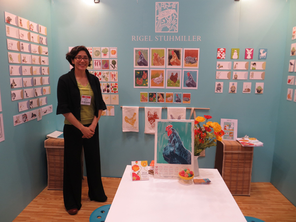 Rigel Stuhmiller in her booth