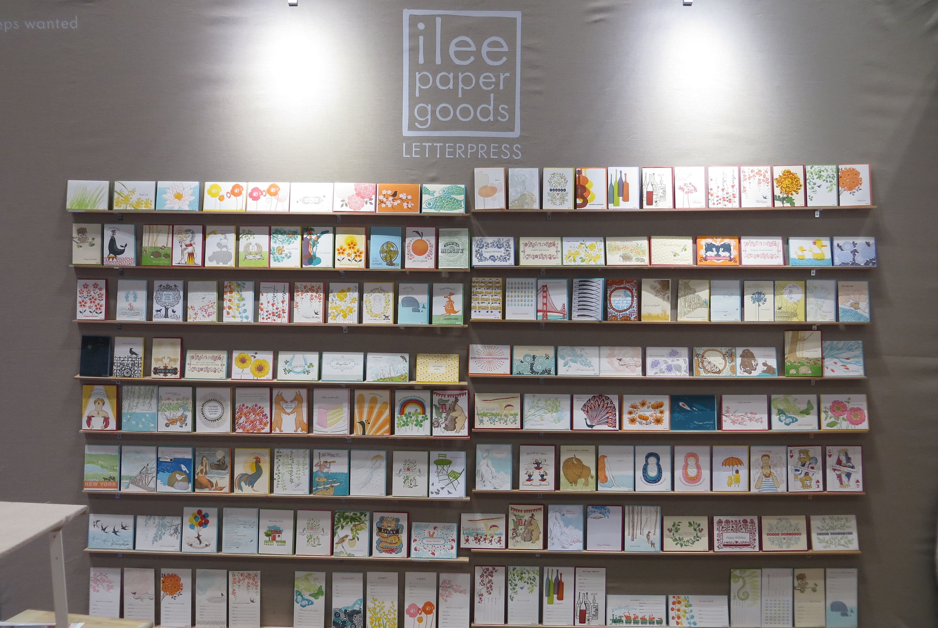ilee papergoods booth