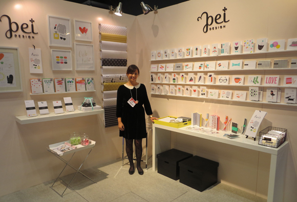 Pei Pinney in the Pei Design booth