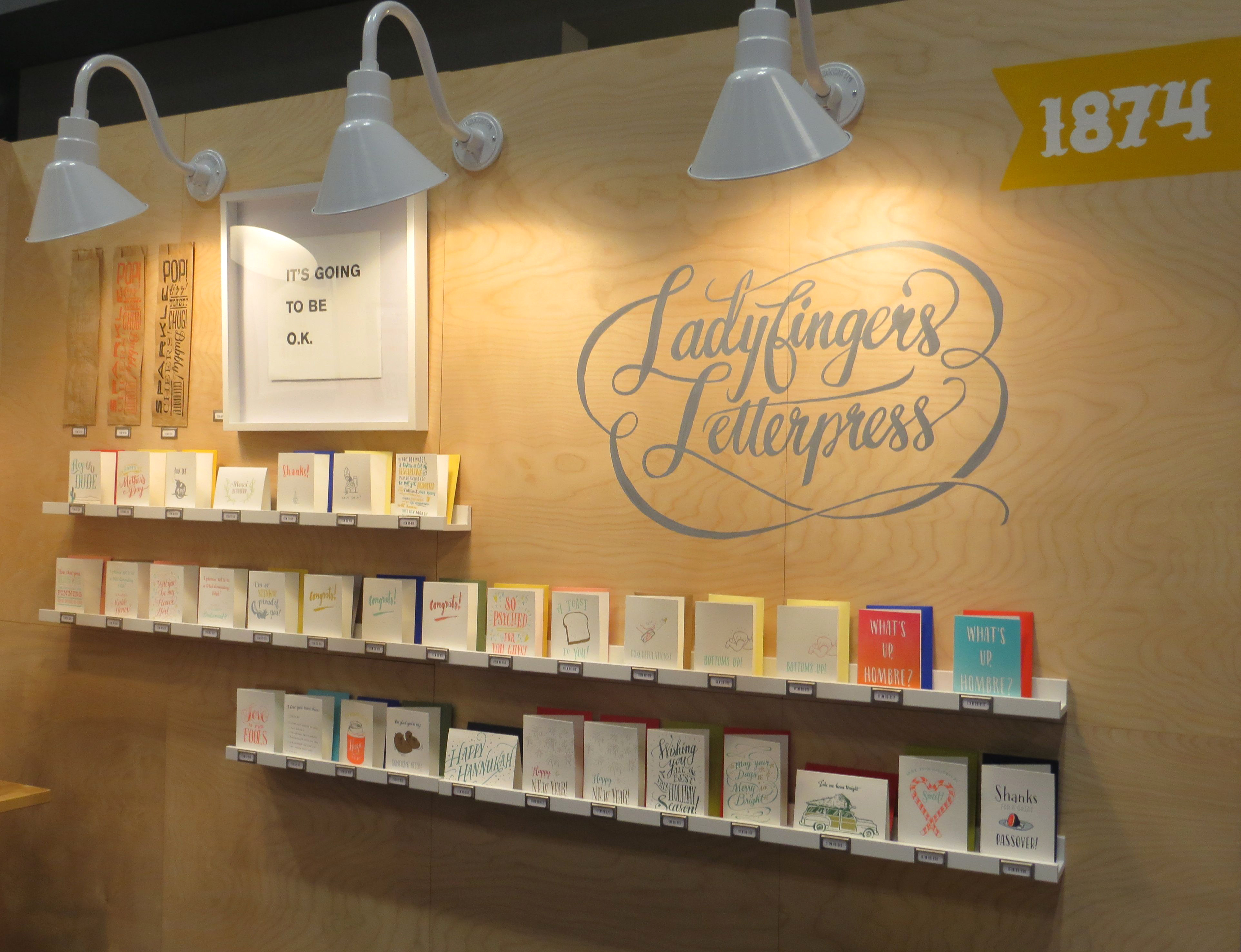 Ladyfingers Letterpress booth