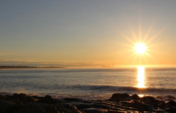 Gloucester sunrise over the Atlantic