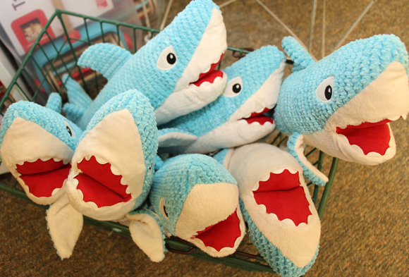 Plush sharks from Maison Chic