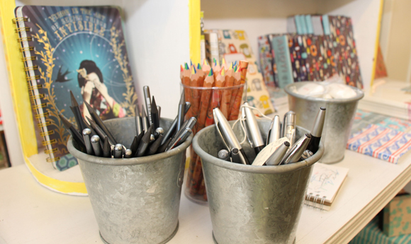 Pens, pencils, and notebooks