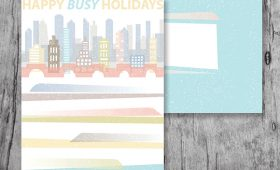 Happy Busy Holidays greeting card