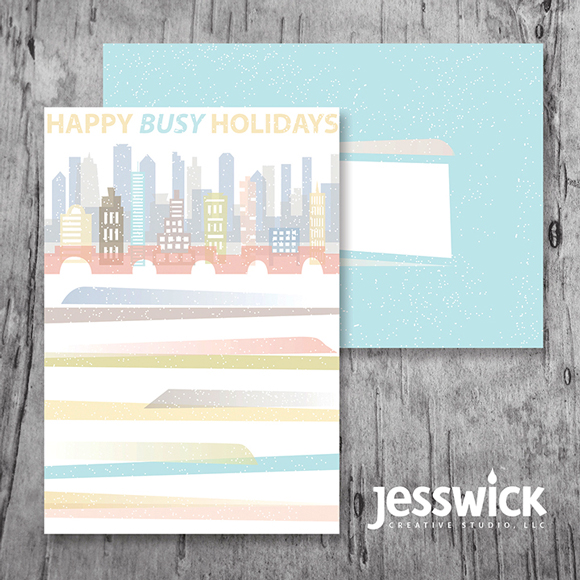Busy Holidays greeting card