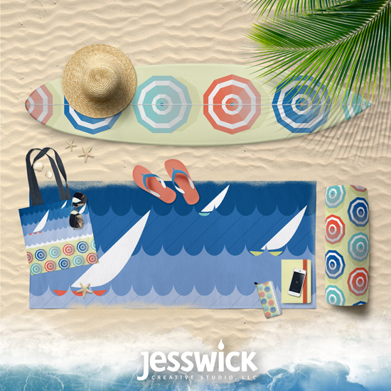French Riviera product mock-ups