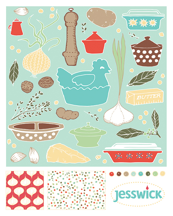 Scalloped potatoes pattern collection