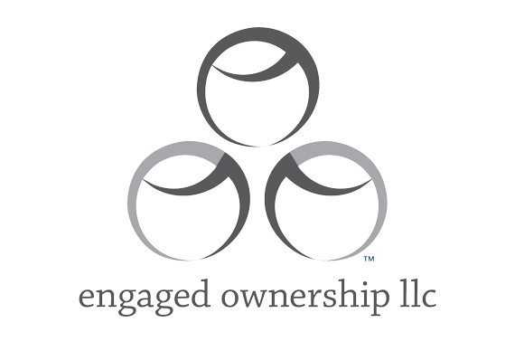 Engaged Ownership LLC logo - Friendly helper reaching out detail. © 2018 Engaged Ownership LLC.