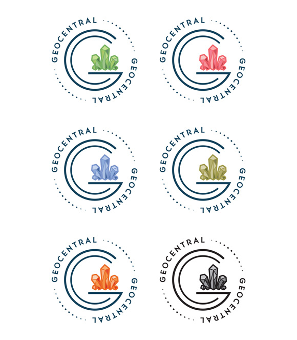 GeoCentral logo color options. © 2018 GeoCentral.